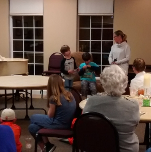 Family Night participants.