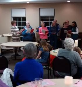 Acapela choir signing.